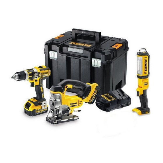 DEWALT DCK364M2T 18V BRUSHLESS COMBI, JIGSAW AND TORCH KIT WITH 2X 4.0AH LI-ION BATTERIES