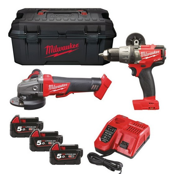 MILWAUKEE M18SET2H-503W 18V FUEL THUNDERBOLT KIT WITH 3X 5.0AH LI-ION BATTERIES