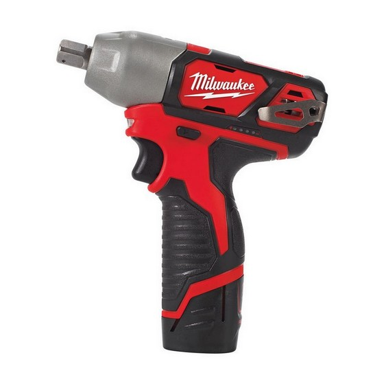 MILWAUKEE M12BIW12-202 IMPACT WRENCH WITH 2X 2.0AH BATTERIES