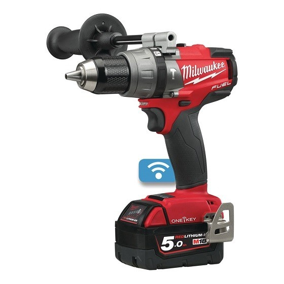 MILWAUKEE M18ONEPD-502X 18V ONE KEY PERCUSSION DRILL WITH 2X 5.0AH BATTERIES