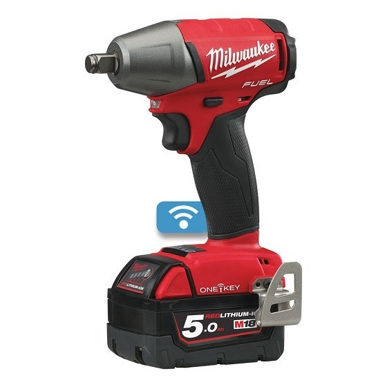 MILWAUKEE M18ONEIWF12-502X 18V ONE KEY 1/2 INCH FRICTION RING IMPACT WRENCH WITH 2X 5.0AH BATTERIES