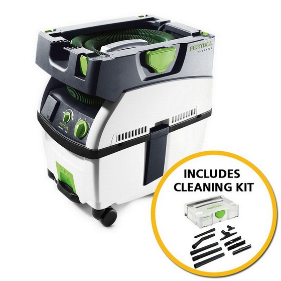 Image of FESTOOL 584163 CTL MIDI 15 LITRE DUST EXTRACTOR 110V CLEANING KIT