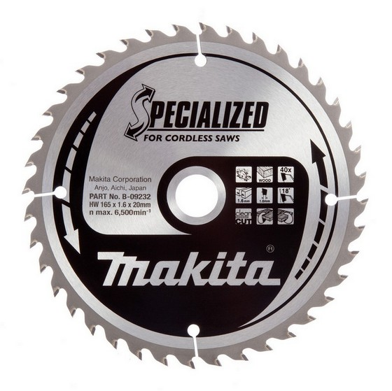 MAKITA B-09232 CIRCULAR SAW BLADE 40TX20X165MM