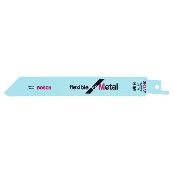 Image of Bosch 2608656013 Pack Of 5 Flex Metal UniShank Saw Blades S922 AF