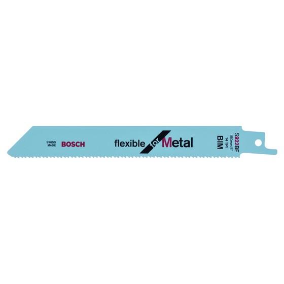 Image of Bosch 2608656014 Pack Of 5 Flex Metal UniShank Saw Blades UniShank S922 BF