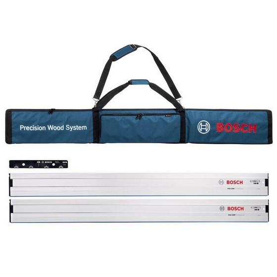 Image of Bosch Guide Rail Kit 2x Fsn 1600 1 X Fsn Vel Fsn Bag