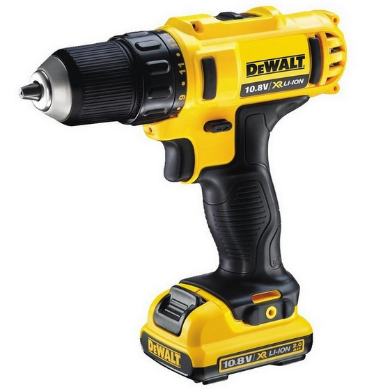 DEWALT DCD710D2-GB 10.8V DRILL DRIVER WITH 2X 2.0AH BATTERIES, CHARGER & KIT BOX