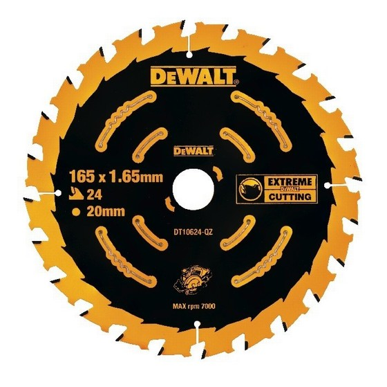 Image of DEWALT DT10624QZ CIRCULAR SAW BLADE 165MM X 20MM X 24T