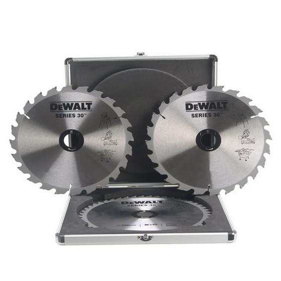 Image of Dewalt Dt1173qz Triple Blade Set 250mm X 30mm X 2448t