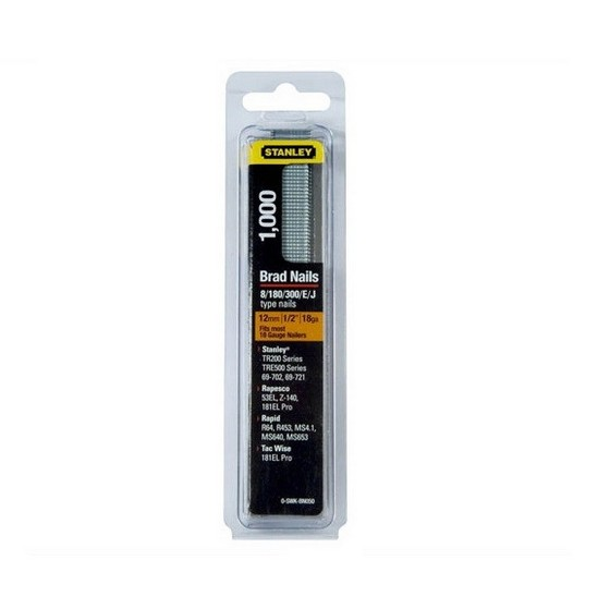 Image of STANLEY STA0SWKBN050 PACK OF 1000 BRAD NAILS 12MM