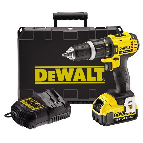 DEWALT DCD785M1 18V 2 SPEED XRP COMBI HAMMER DRILL WITH 1X 4.0AH LI-ION BATTERY