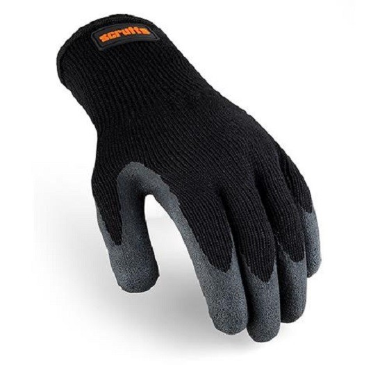 SCRUFFS T50997 UTILITY BLACK LATEX COATED GLOVES
