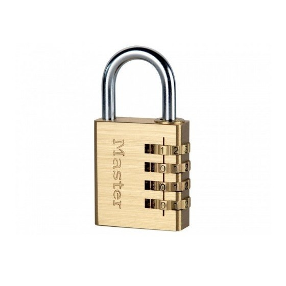 Image of MASTER LOCK MLK604 4 DIGIT COMBINATION PADLOCK 40MM BRASS