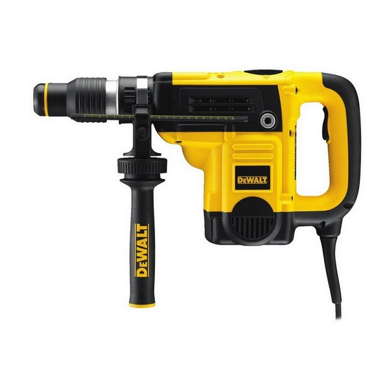 DEWALT D25501K SDS MAX COMBINATION HAMMER DRILL 5KG 240V