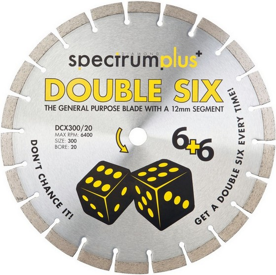 SPECTRUM DCX115/22 DOUBLE SIX PLUS GENERAL PURPOSE DIAMOND BLADE 115MM