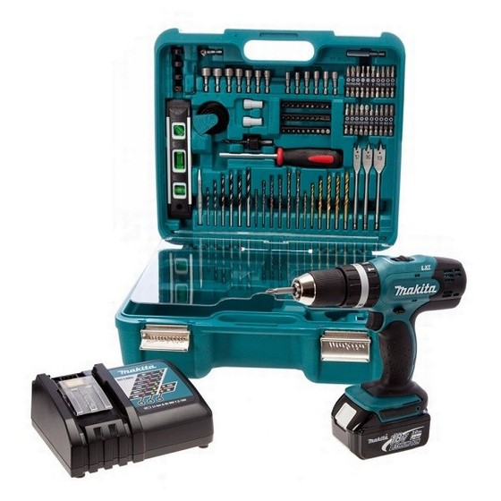 MAKITA DHP453RFTK 18V COMBI HAMMER DRILL WITH 1X 3.0AH LI-ION BATTERY, CASE & ACCESSORIES