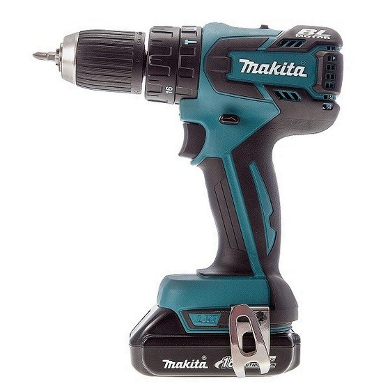 makita dhp459y1j 18v combi drill with 1x li ion battery. Black Bedroom Furniture Sets. Home Design Ideas