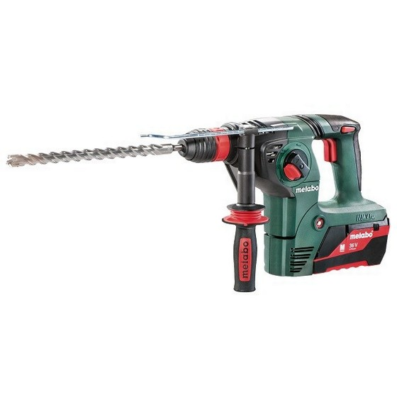 Image of METABO KHA36 LTX 36V 3 FUNCTION SDS HAMMER DRILL WITH 2 X 26AH LIION BATTERIES