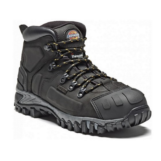 DICKIES FD23310 MEDWAY SUPER S3 SAFETY BOOT BLACK (SIZE 10)