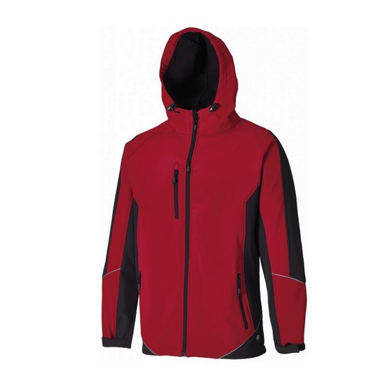 DICKIES JW7010 TWO TONE SOFTSHELL JACKET RED