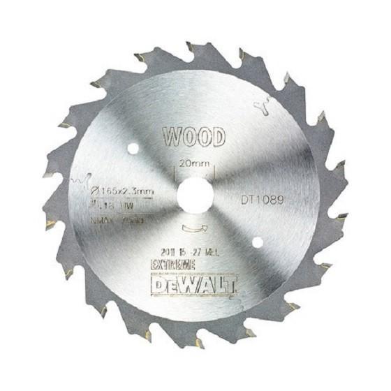 Image of Dewalt Dt1089qz Plunge Saw Blade 165mm X 20mm X 18t