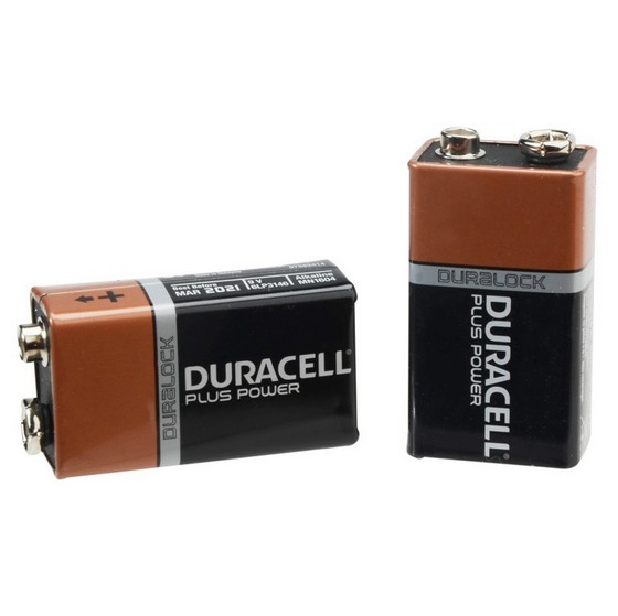 DURACELL XMS16BATT9V ALKALINE 9V BATTERY (PACK OF 2)