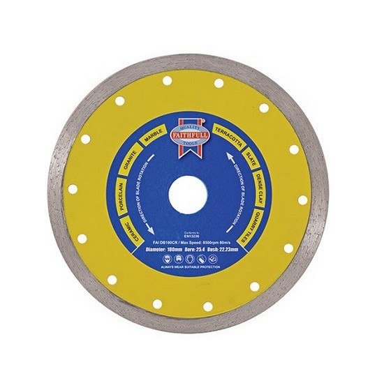 Image of Faithfull Faidb180cr Ceramic Series Diamond Blade 254x180mm
