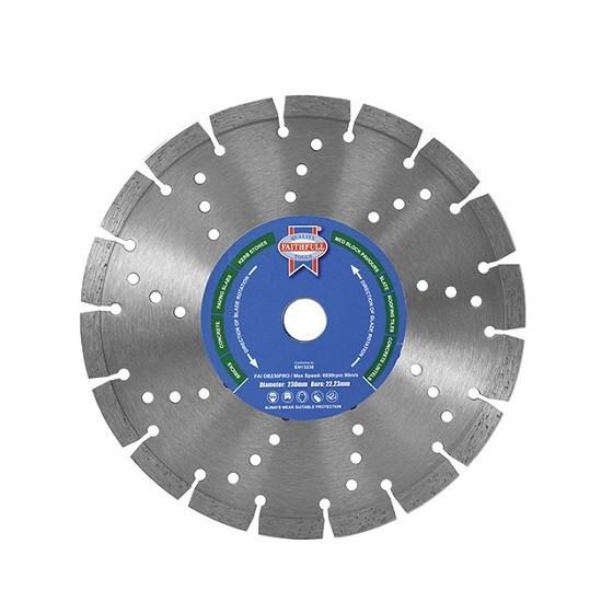 Image of FAITHFULL FAIDB230PRO PRO SERIES DIAMOND BLADE 2223X230MM