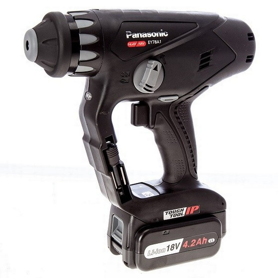 PANASONIC EY78A1LS3T 18V / 14.4V DUAL VOLTAGE SDS ROTARY HAMMER DRILL DRIVER WITH 2X 4.2AH LI-ION BATTERIES
