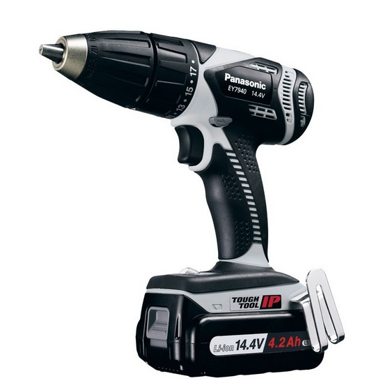 Image of PANASONIC EY7940LS2S 144V COMBI DRILL DRIVER WITH 1X 42AH LIION BATTERY