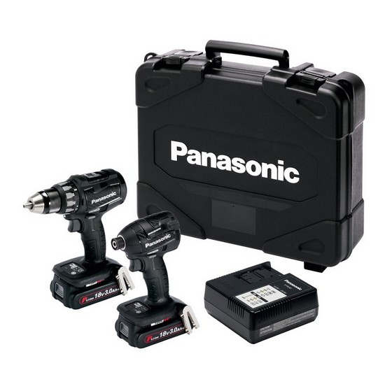 PANASONIC EYC215PN2G31 BL DRILL DRIVER & IMPACT DRIVER KIT WITH 2X 3.0AH LI-ION BATTERIES