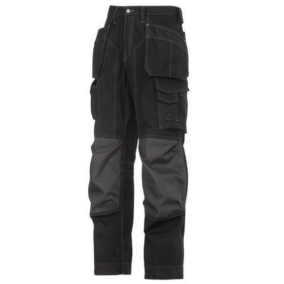 SNICKERS FLOORLAYER TROUSERS BLACK (32 INCH LEG)