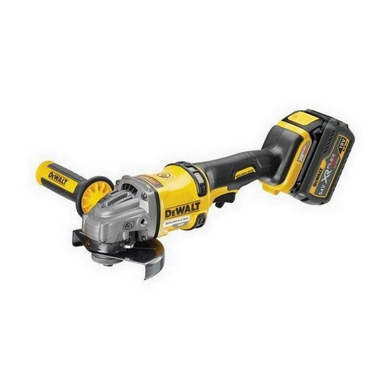 Image of DEWALT DCG414T2 54V XR FLEXVOLT 125MM ANGLE GRINDER WITH 2X 60AH LIION BATTERIES