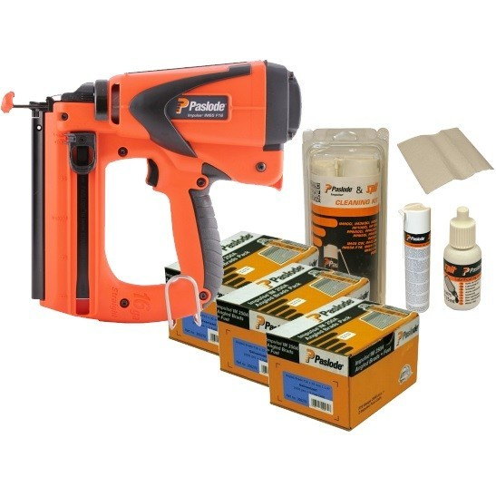 PASLODE IM65 LITHIUM F16 2ND FIX STRAIGHT BRAD NAILER KIT WITH 2X LI-ION BATTERIES