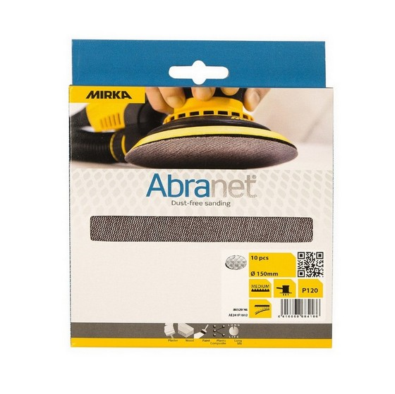 MIRKA 150MM ABRANET SANDING DISCS P80 (PACK OF 10)