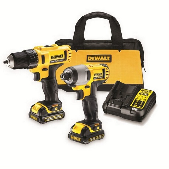 DEWALT DCK211C2 10.8V DRILL AND IMPACT DRIVER TWIN PACK SUPPLIED WITH 2X 1.3AH LI-ION BATTERIES