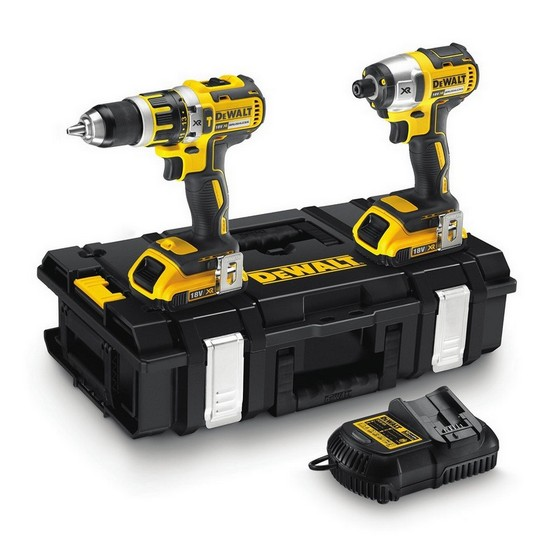 DEWALT DCK250D2 18V BRUSHLESS TWIN PACK WITH 2X 2.0AH LI-ION BATTERIES