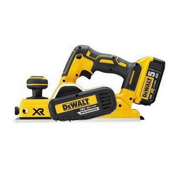 Image of DEWALT DCP580P2 18V BRUSHLESS PLANER WITH 2X 50AH LIION BATTERIES