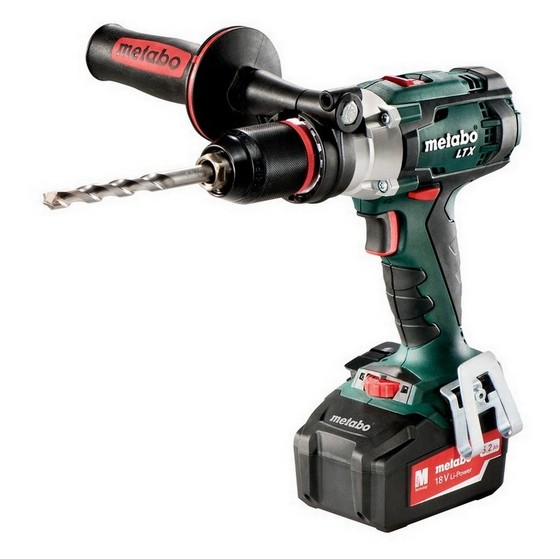 METABO SB18 LTX 18V IMPULS COMBI DRILL WITH 2X 5.2AH LI-ION BATTERIES