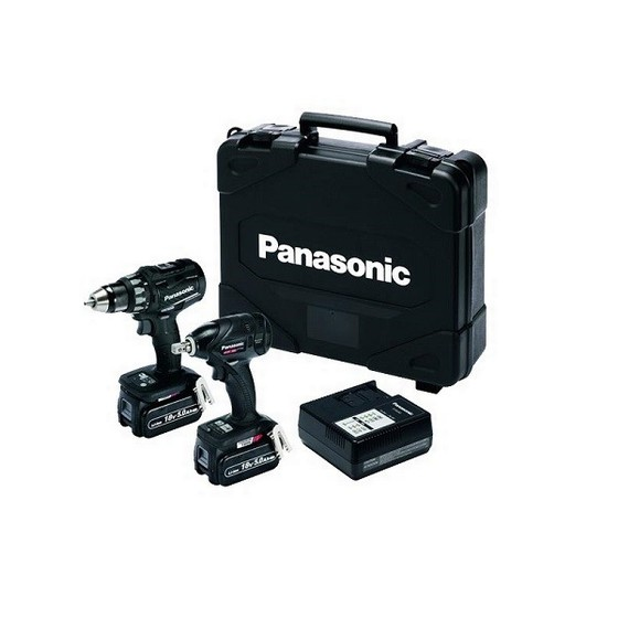 PANASONIC EYC216LJ2F31 18V BL DRILL DRIVER & IMPACT WRENCH KIT WITH 2X 5.0AH BATTERIES
