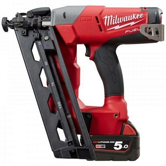 Image of MILWAUKEE M18CN16GA502X 18V 16 GAUGE NAILER 2 X 50AH LIION BATTERIES