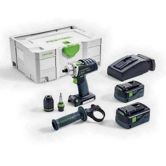 FESTOOL 574698 DRC184 LI PLUS GB 18V QUADRIVE DRILL DRIVER 2 X 52AH AIRSTREAM LIION BATTERIES SUPPLIED IN TLOC CASE
