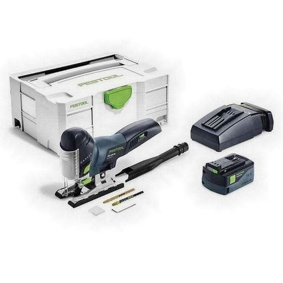 Image of FESTOOL 574710 PSC420 LI 52 EBPLUS 18V CARVEX BODYGRIP JIGSAW WITH 52AH AIRSTREAM BATTERY SUPPLIED IN TLOC CASE