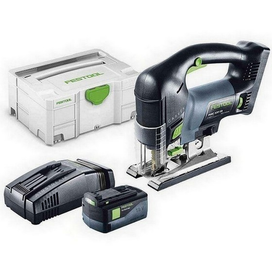 Image of FESTOOL 201381 PSBC420 LI 52 EBPLUS 18V CARVEX JIGSAW WITH 52AH AIRSTREAM LIION BATTERY SUPPLIED IN TLOC CASE