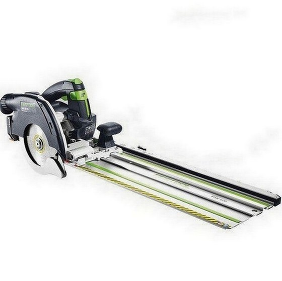 Image of FESTOOL 201373 HKC55 LI 52 EBSETFSK420 GB 18V CIRCULAR SAW 2 X 52AH AIRSTREAM LIION BATTERIES FSK420 RAIL SUPPLIED IN TLOC CASE