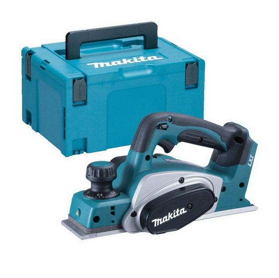 Image of MAKITA DKP180ZJ 18V CORDLESS PLANER BODY ONLY SUPPLIED IN MAKPAC CASE