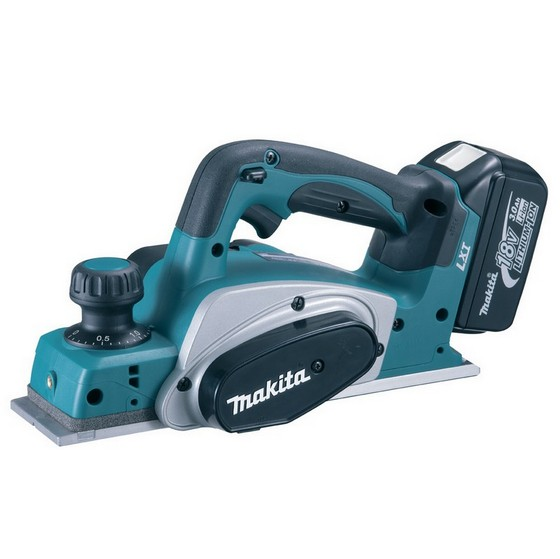 Image of MAKITA DKP180RFJ 18V CORDLESS PLANER WITH 2X 30AH LIION BATTERIES SUPPLIED IN MAKPAC CASE
