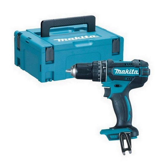 Image of MAKITA DHP482ZJ 18V COMBI HAMMER DRILL BODY ONLY SUPPLIED IN MAKPAC CASE