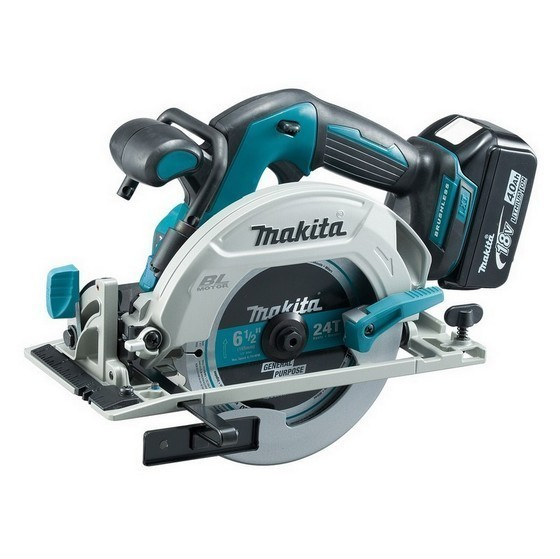Image of MAKITA DHS680RTJ 18V BRUSHLESS CIRCULAR SAW WITH 2X 50AH LIION BATTERIES SUPPLIED IN MAKPAC CASE