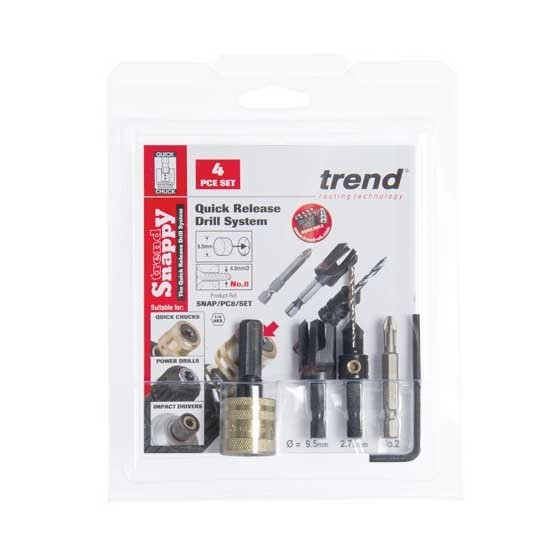 Image of Trend Snappc6set Snappy Plug Cutter No 6 Screw Set